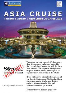 Legend of the Seas 7 Night Thailand & Vietnam Cruise